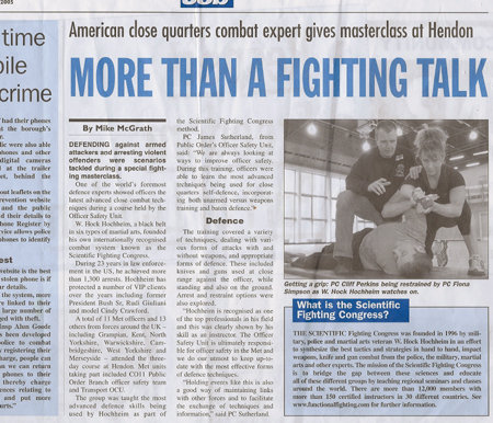 scientific fighting congress london self defense article Police Judo